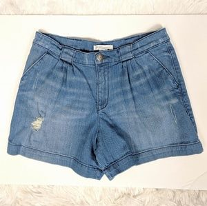 BCBGeneration Denim Pleated Shorts